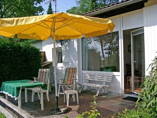 Holiday home with a lovely terrace in a bungalow park in the Teutoburg Forest