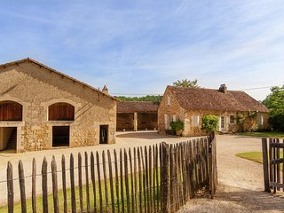 Impressive, restored farmhouse with private pool, surrounded by woods.