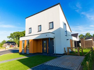 Modern, child-friendly villa with a fireplace in Limburg