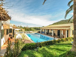 luxury 10 person villa with private pool and sea view over the bay of Pollensa