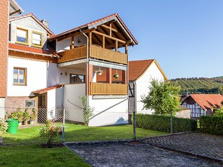 Apartment in the Kellerwald National Park, with balcony and easy access to a hos