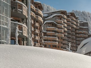 Residence with sauna and bath house right on the slopes of Les Portes du Soleil