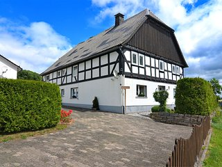 Beautiful ground floor apartment in the Sauerland with wood stove and private te