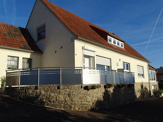 Holiday home with large garden in great location near the Moselle, offering view