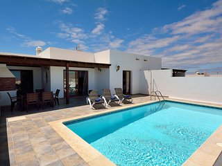 Beautiful holiday home in Playa Blanca with views of volcanoes and the sea