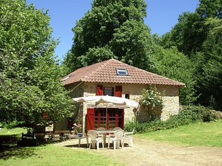 Old renovated mill surrounded by a large enclosed peaceful garden.