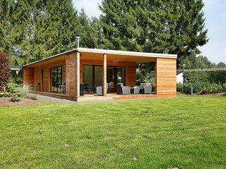 Modern lodge with a wood burning stove, near Almelo