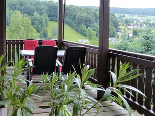 Holiday home in an idyllic setting in the heart of the Erzgebirge mountains with