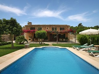 A typical Majorcan country house with private pool