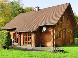 Spacious wooden house in the Westerwald with soapstone stove