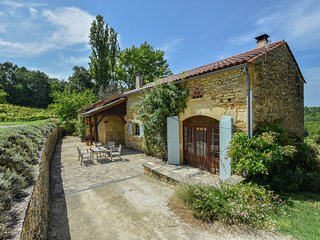Holiday home in the woods with private swimming pool and lovely terrace.