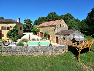 French cottage with private pool and spectacular views.