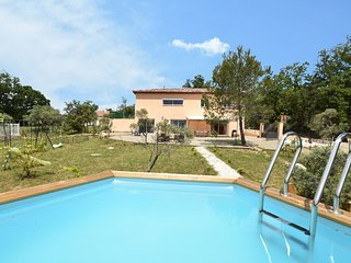 Single-storey air-conditioned villa with private pool within walking distance of