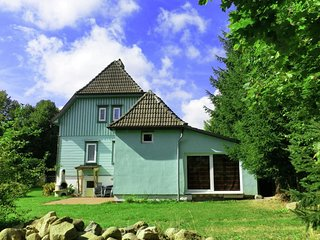 Luxury holiday home in Harz region in Elend health resort with private indoor po