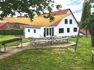 Spacious group home near Edersee and Kellerwald National Park with garden.