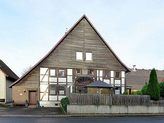 Modern holiday home in the Weser Uplands in a half-timbered house with PREMIUM-C