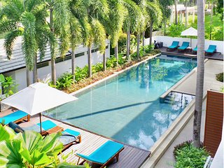 2br+3ba Family Condo 5min to Beach w/ 2 swimming pools & gym