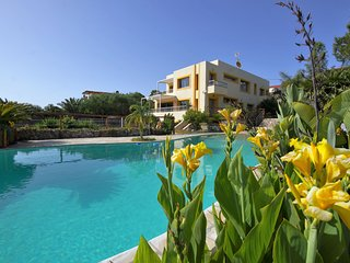 Spacious modern villa, with beautiful waterfall in Talamanca near Ibiza town!