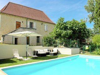 Restored farmhouse with heated private pool, set in beautiful countryside.