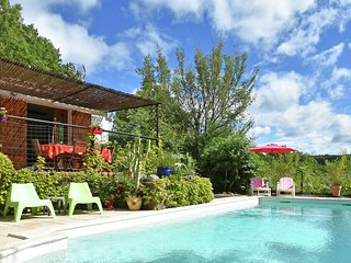 Stylish holiday home near St. Brès, with private swimming pool and stunning vie
