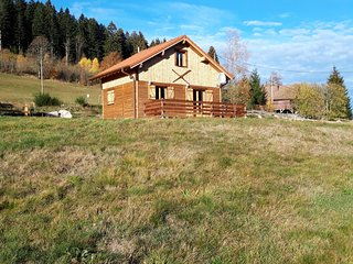 Brand-new wooden chalet offering vast views, 800m from Gérardmer and close to t