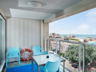 Apartment in the centre of Scheveningen, 200 m from the beach with seaview