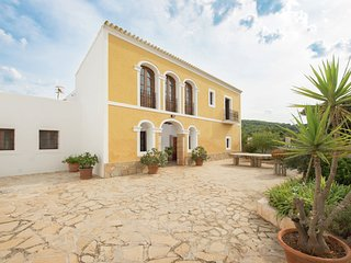Country house in Ibiza style with beautiful pool and several terraces