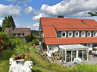 Flat for 10 people with a large conservatory at the edge of the forest in the Ha