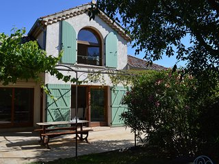 Spacious new villa near les Vans and with stunning view and shared pool