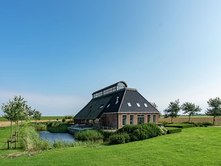 Holiday farm in Nes, Friesland province, behind the dykes of the Wadden Sea
