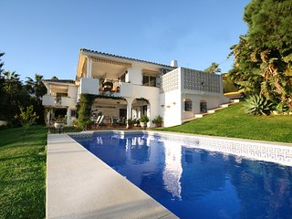 Stunning villa with communal swimming pool