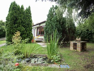 Detached holiday home in the Vogtland with furnace and terrace on a large plot o