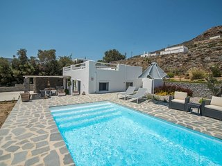 Amazing Private Villa with POOL, JACUZZI and OCEAN VIEW in Stelida Naxos