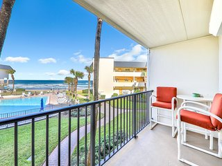 Oceanfront condo w/ a full kitchen, shared pool, & easy beach access