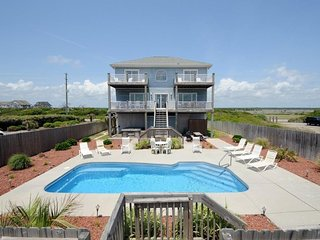Island Drive 3858 Oceanfront! | Private Heated Pool, Hot Tub, Jacuzzi, Internet,