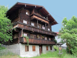 Rustic Almhouse only 1 km above Matrei with magnificent view