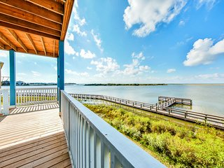 NEW LISTING! Amazing bayfront home w/ boardwalk & boat mooring - small dogs OK!