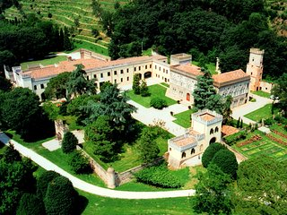 Regal Castle near Padua and Venice with scenic beauty