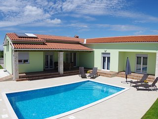 Brand new villa near Svetvincenat with private pools, trampolines and fitness