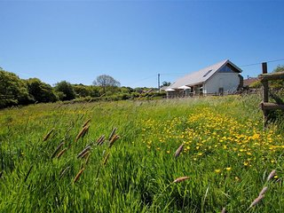 Large, modern farmhouse in Umberleigh on the river Taw