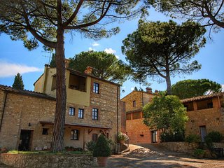 Farm holiday with swimming pool in the hills of the Chianti, beautiful surroundi