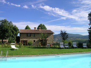 A large villa near vineyards at Radicofani