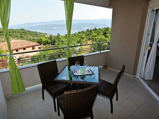 Spacious apartment with covered terrace and sea view  !
