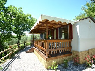 Fabulous holiday chalet set amidst olive trees, with a wonderful panoramic view