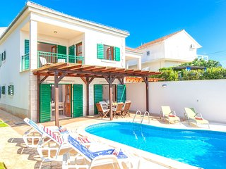 Beautiful villa with spacious terrace and private swimming pool, on the Croatian