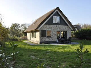 Thatched villa with dishwasher, 1.2 km from the sea on Texel