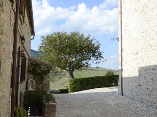 Charming apartment in a medieval village with beautiful garden and wifi