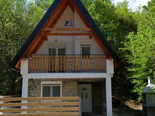 Charming chalet near the lake ideal for 8 persons , kayaks and bikes available