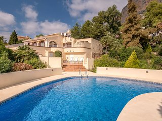Uniquely located villa, private swimming terraces, view over Javea and the Monte