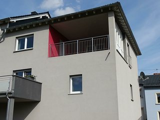 Comfortable apartment with covered terrace and beautiful view of the Moselle